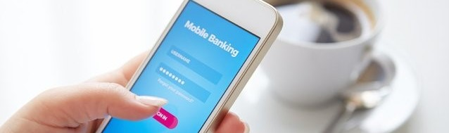 Phone on mobile banking application